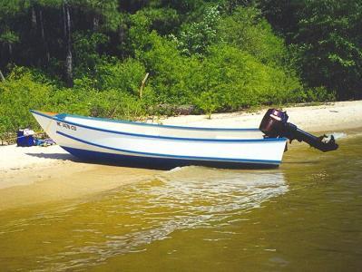 чистка лодки